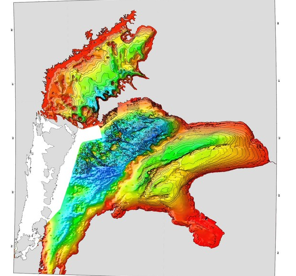 Lake Huron and Georgian Bay depth map